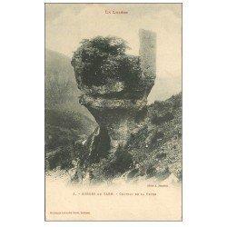 carte postale ancienne 48 GORGES DU TARN. Château de la Peyro vers 1900