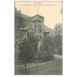 carte postale ancienne 48 GORGES DU TARN. Donjon du Château de la Caze