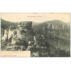 carte postale ancienne 48 GORGES DU TARN. Ermitage Saint-Michel vers 1900