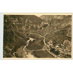 carte postale ancienne 48 GORGES DU TARN. La Malène. Tarn et Village