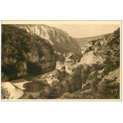 carte postale ancienne 48 GORGES DU TARN. Rocher du Champignon