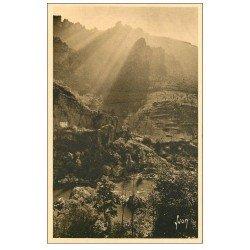 carte postale ancienne 48 GORGES DU TARN. Sortie du Cirque des Baumes