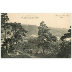 """carte postale ancienne 48 LA BASTIDE. Bois de la Pinède """""""" Au Repos des Touristes """""""""""