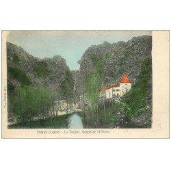 carte postale ancienne 48 MALZIEU. La Truyère. Gorges Saint-Pierre