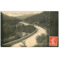 carte postale ancienne 48 MARVEJOLS. Route à Saint-Chély au Tunnel de Sainte-Lucie