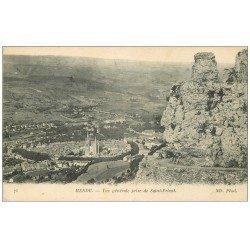 carte postale ancienne 48 MENDE. Vue prise de Saint-Privat 1917