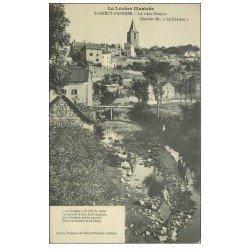 carte postale ancienne 48 SAINTE-CHELY-D'APCHER. Donjon Quatier le Château. Garçon au premier plan