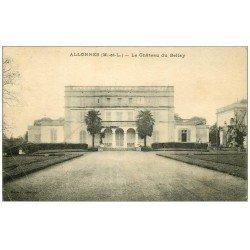 carte postale ancienne 49 ALLONNES. Château du Bellay