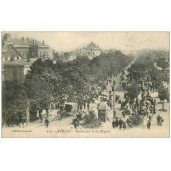 carte postale ancienne 49 ANGERS. Boulevard de la Mairie. Tampon Militaire 1915