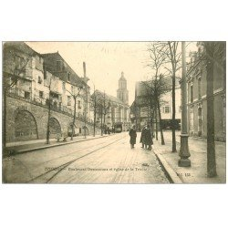 carte postale ancienne 49 ANGERS. Boulevard Descazeaux et Eglise de la Trinité
