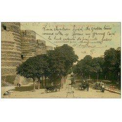 carte postale ancienne 49 ANGERS. Boulevard du Château 1910