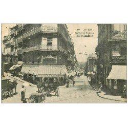carte postale ancienne 49 ANGERS. Carrefour Rameau et Rue Plantagenet. Timbre Taxe 10 centimes 1909