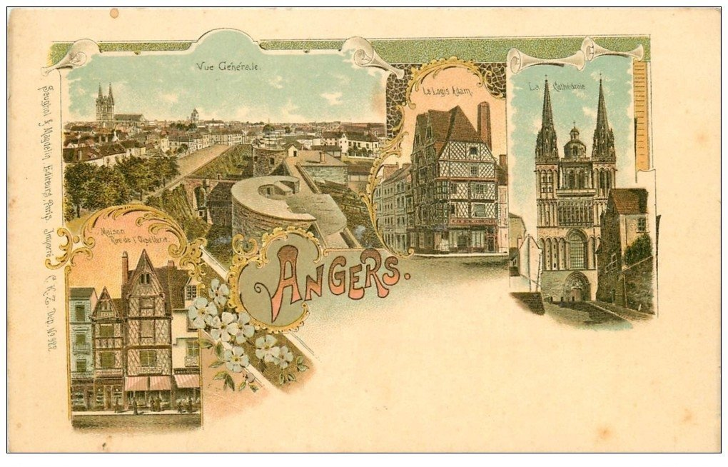 49 ANGERS. Carte Premier Tirage vers 1900