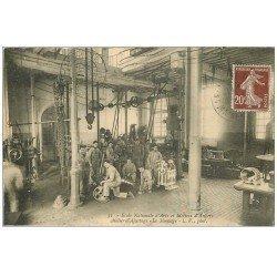 carte postale ancienne 49 ANGERS. Ecole Arts et Métiers. Le Montage. Atelier d'ajustage 1921