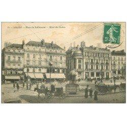 carte postale ancienne 49 ANGERS. Hôtel des Postes Place du Ralliement 1908 vespasiennes