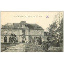 carte postale ancienne 49 ANGERS. Hôtel-Dieu Ecole de Médecine 1916