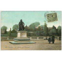 carte postale ancienne 49 ANGERS. La Statue de Chevreuil 1925