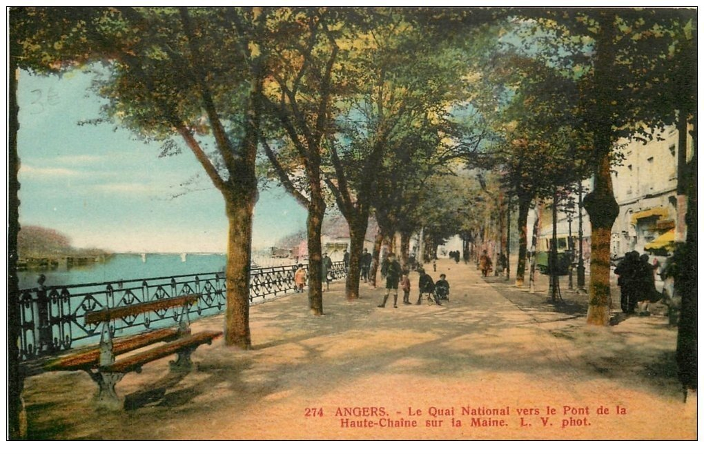 carte postale ancienne 49 ANGERS. Le Quai National