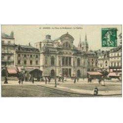 carte postale ancienne 49 ANGERS. Place du Ralliement le Théâtre 1912