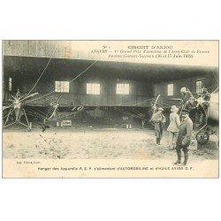 49 ANGERS. Prix Aviation Aéro-Club. Hangar des Appareils REP Huile et Automobiline. Aéroplane Circuit Anjou en 1912