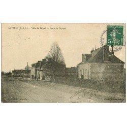 carte postale ancienne 49 AUVERSE. Villa du Tilleul Route de Noyant 1909