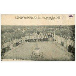 carte postale ancienne 49 BEAUFORT-EN-VALLEE. Place Jeanne-de-Laval. Cercle du Véloce Club