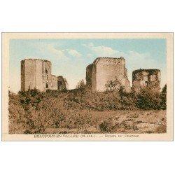carte postale ancienne 49 BEAUFORT-EN-VALLEE. Ruines du Château