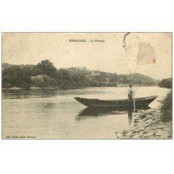 carte postale ancienne 49 BEHUARD. Le Passeur 1915 (timbre manquant)