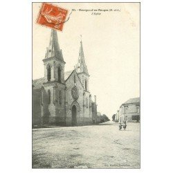 carte postale ancienne 49 BOURGNEUF-EN-MAUGES. L'Eglise 1911