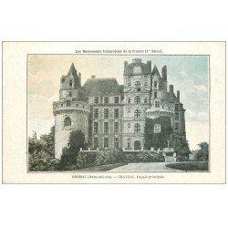 carte postale ancienne 49 BRISSAC. Le Château. Carte explicative