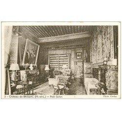 carte postale ancienne 49 BRISSAC. Le Château. Petit Salon
