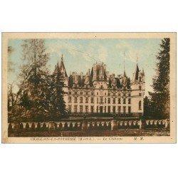 carte postale ancienne 49 CHALLAIN-LA-POTHERIE. Le Château 1949. Tampon Colonie Vacances de Choisy-le-Roi