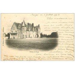 carte postale ancienne 49 CHATEAU DE BAUGE 1903