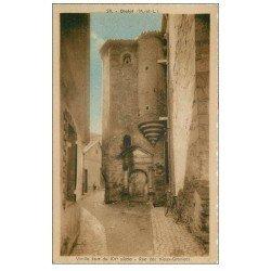 carte postale ancienne 49 CHOLET. Bicyclette Rue des Vieux-Greniers. Beaux timbres 1947