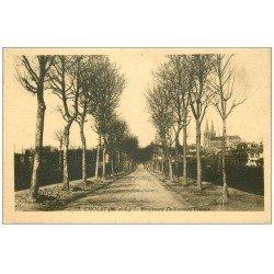 carte postale ancienne 49 CHOLET. Boulevard Delhumeau Plessis