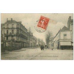 carte postale ancienne 49 CHOLET. Boulevard Gustave Richard 1908. Epicerie de Paris et Dentiste au deuxième