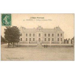 carte postale ancienne 49 CHOLET. Collège de Jeunes Filles 1909