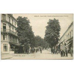 carte postale ancienne 49 CHOLET. Grand Café Boulevard Gustave Richard
