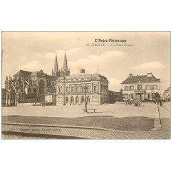 carte postale ancienne 49 CHOLET. La Place Travot 1909