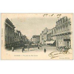 carte postale ancienne 49 SAUMUR. 1909 vue prise du Pont Cessart. Edition Guibert Vins Mousseux