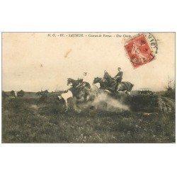 carte postale ancienne 49 SAUMUR. Courses de Verrie. Une Chute 1913