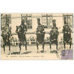 carte postale ancienne 49 SAUMUR. Ecole Cavalerie. Courbetttes 1927