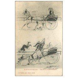 carte postale ancienne 49 SAUMUR. Ecole. Une chute mouvementére. Illustration de Barthélémy en 1889