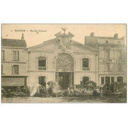 carte postale ancienne 49 SAUMUR. Marché Couvert