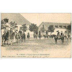 carte postale ancienne 49 SAUMUR. Travail militaire des Elèves-Officiers 1902