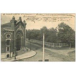 carte postale ancienne 59 ARMENTIERES. Entrée des Bains et Square 1906