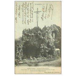 carte postale ancienne 59 ARMENTIERES. Grotte et Calvaire 1903 Paroisse du Sacré-Coeur