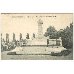 carte postale ancienne 59 ARMENTIERES. Monument des Victimes 1907