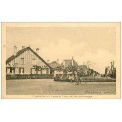 carte postale ancienne 59 AULNOYE. Cité. Place du 11 Novembre et Rue Beauséjour 1939