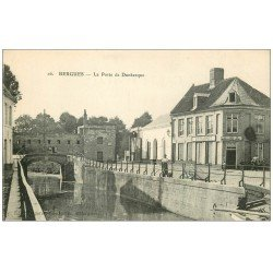 carte postale ancienne 59 BERGUES. Estaminet à la Porte de Dunkerque 1916
